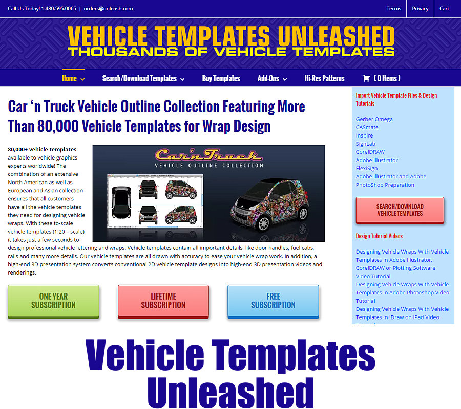 Vehicle Templates Unleashed